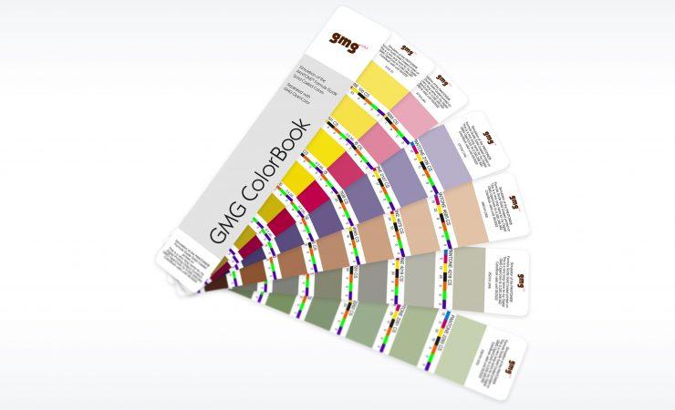 GMG ColorBook proofs Pantones