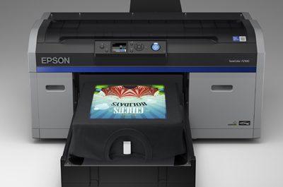 New Epson SureColor SC-F2100 direct-to-garment printer