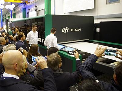EFI Reggiani upgrades Bolt textile printer