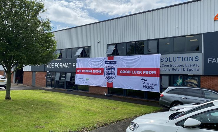 Northern Flags backs England with giant sustainable banner