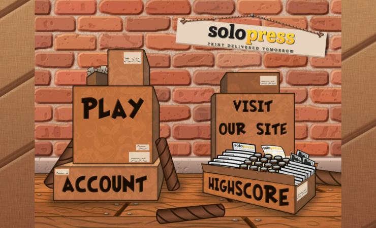 iPhone game app promotes Solopress printing services
